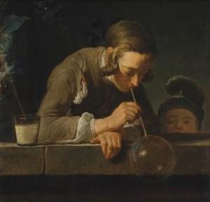 La pompa de jabón, por Jean-Baptiste Simeón Chardin, c. 1733-34, Nueva York, MET Museum.