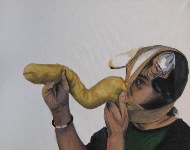 Las-obras de la exposición inquietan al espectador y le hacen reflexionar llenas de humor e ironía.