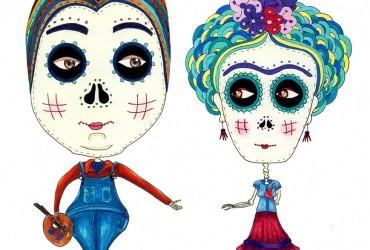 """Las """"catrinas"""" hispano-mexicanas de Patricia Fornos"""