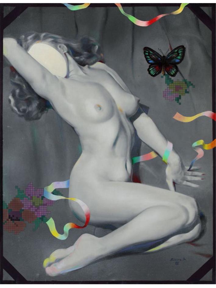 Retrato de una desconocida, 1975, óleo sobre tela, 115 x 88 cm.