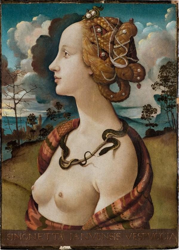 Retrato de Simonetta Vespucci, por Piero di Cosimo. Todas las imágenes, cortesía del Museo Condé.
