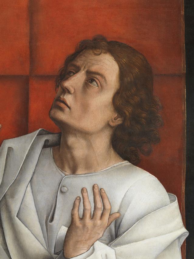 La figura de San Juan tras la restauración.