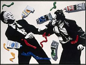 Pintar es como golpear, serie Negra, 1972, acrílico sobre lienzo, 150 x 200 cm. Museo Nacional Centro de Arte Reina Sofía.