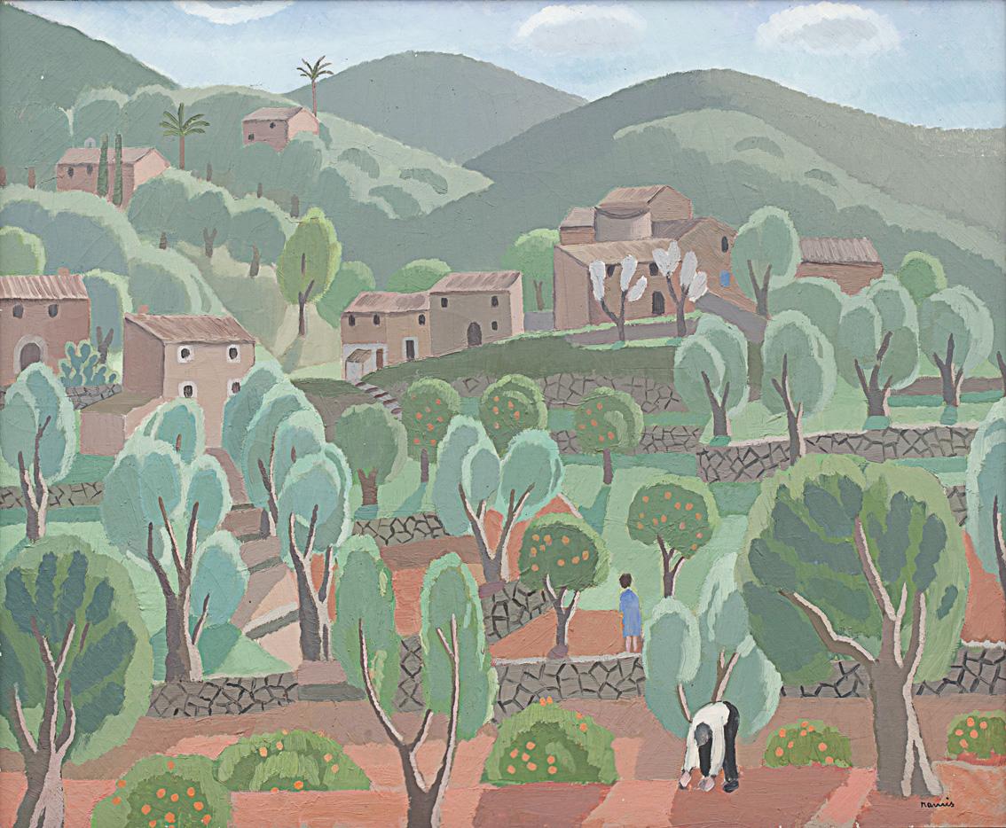 Obra de Juli Ramis (Sóller, 1910-Palma, 1990). Arriba, un óleo de Antoni Ribas (Palma, 1845- 1931).