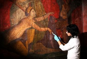 Los frescos de la Villa de los Misterios (Pompeya) lucen de nuevo en todo su esplendor