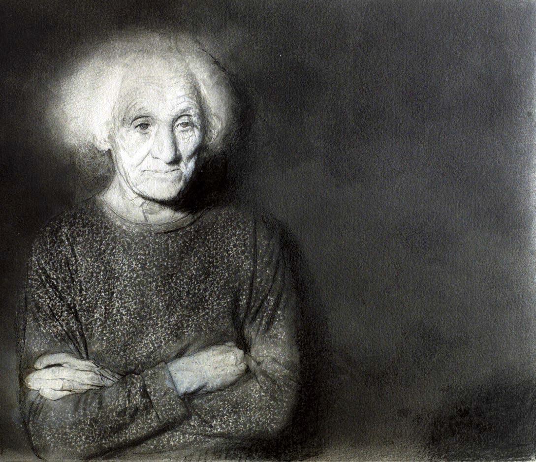 María Antonia, ensayo sobre el alzheimer. Arriba, En la habitación verde.