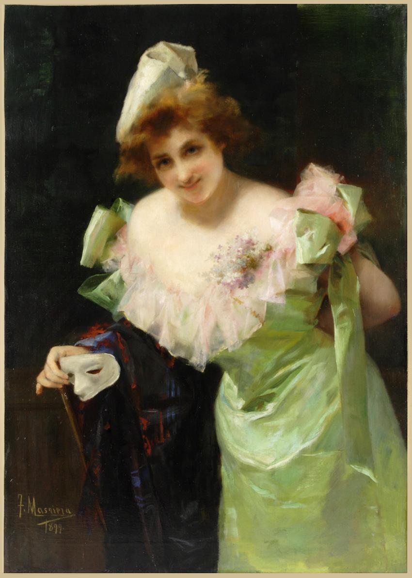 Otra de las incorporaciones, un óleo de Francesc Masriera (Barcelona, 1842-1902).