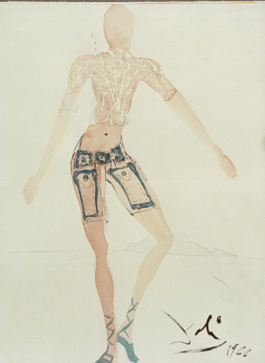 Dibujo de Salvador Dalí, en Artur Ramon Art.