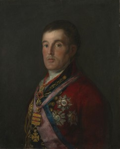 Arthur Wellesley, primer Duque de Wellington, por Francisco de Goya, 1812-14.