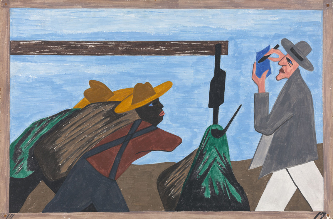 an analysis of jacob lawrence and the migration of the negro Jacob lawrence, the migration of the negro, series of sixty paintings, casein  a  contextualizing narrative that infuses each image with its particular meaning.