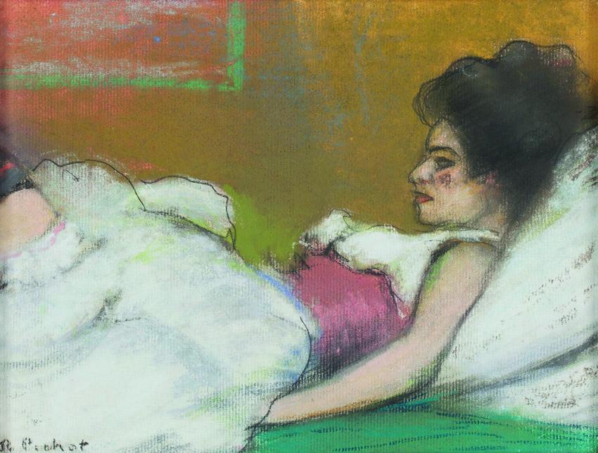 Germaine, de Ramon Pichot, h. 1900, pastel sobre cartulina, 18 x 24 cm, Barcelona, Colección Artur Ramon.