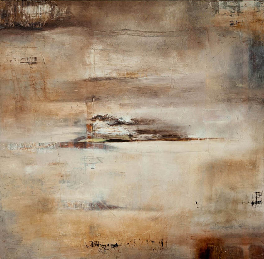 Escollos, óleo sobre lienzo, 100 X 100 cm, 2013.