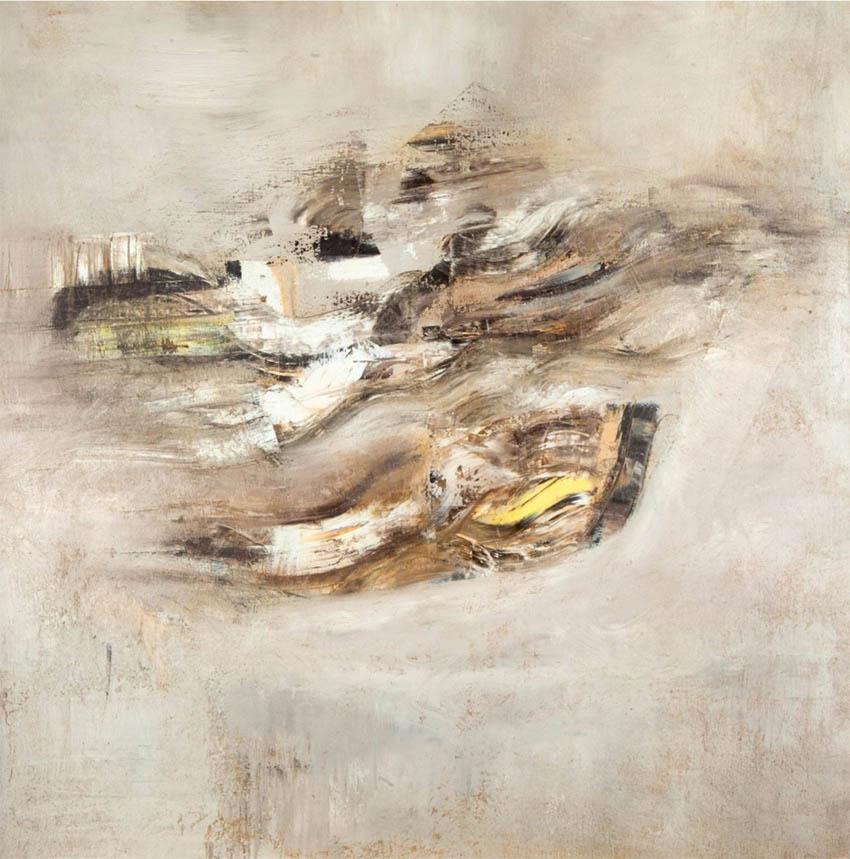 Galerna, óleo sobre lienzo, 100 x 100 cm, 2013.