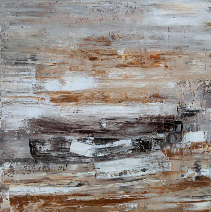 Lanchas, óleo sobre lienzo, 40 x 40 cm, 2013