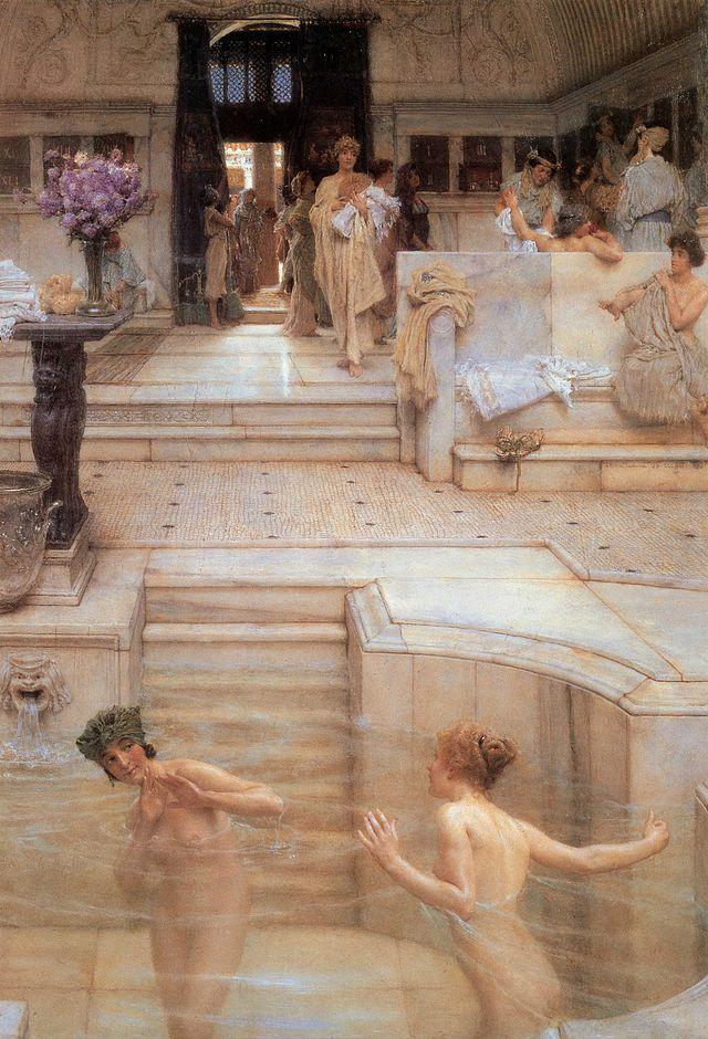 La costumbre favorita, por Lawrence Alma-Tadema, 1909.