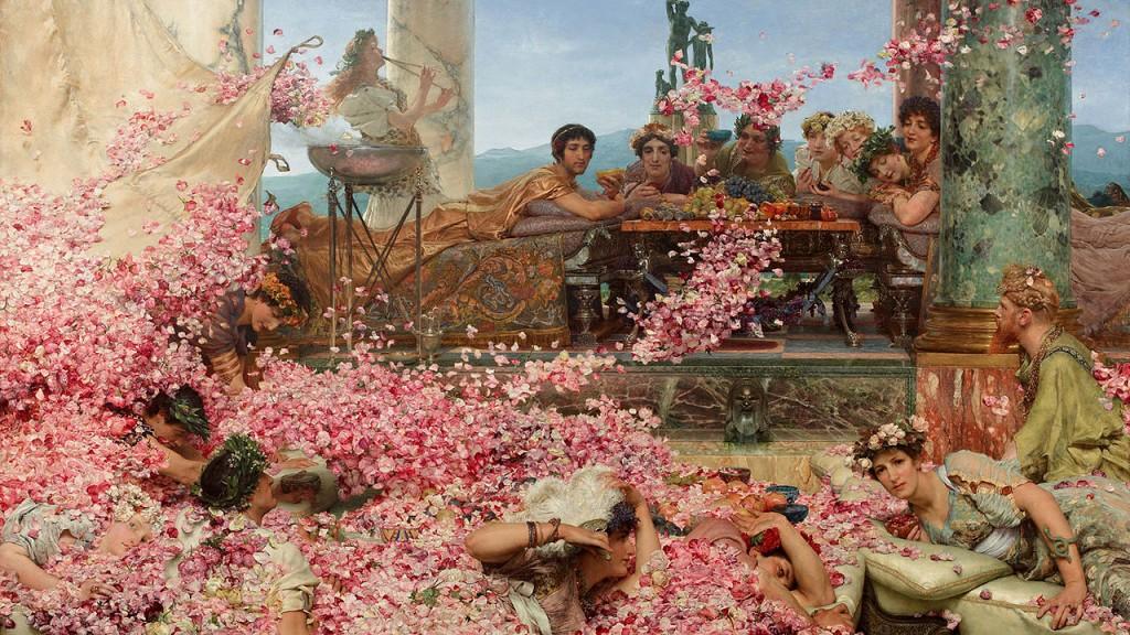 Las rosas de Heliogábalo, por Lawrence Alma-Tadema, 1888.