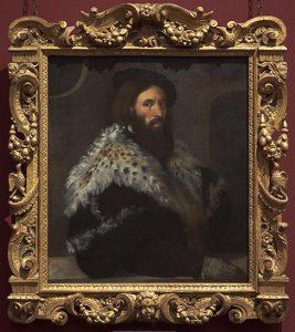 Retrato de Girolamo Fracastoro, por Tiziano, h. 1528, óleo sobre lienzo, 84 x 73,5 cm