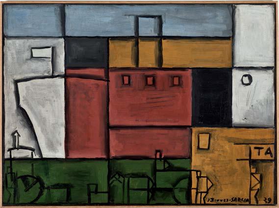 Planisme au Bateau, 1929, por Torres-García. Óleo sobre tela. Colección particular, Barcelona.