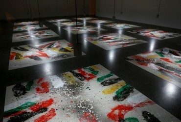 Pintura abstracta, arte de explosión