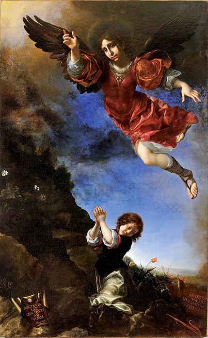 Ángel custodioso, por Carlo Dolci, 1670-1675. Museo Diocesano de Prato.
