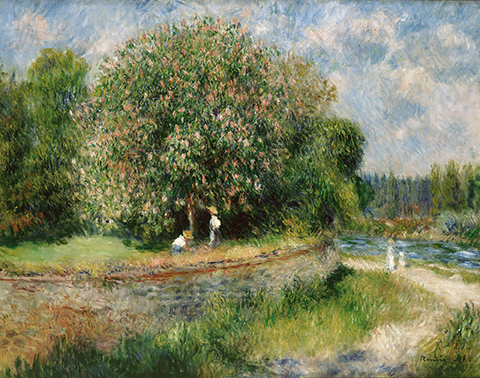 Kastanienbaum, por Pierre Auguste Renoir, 1881.