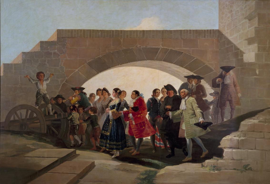 La boda, por Goya, óleo sobre cartón, 1787, Madrid, Museo del Prado.