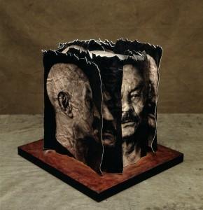 Cascografía a partir de una fotografía de José Hierro, por Alberto Schommer.