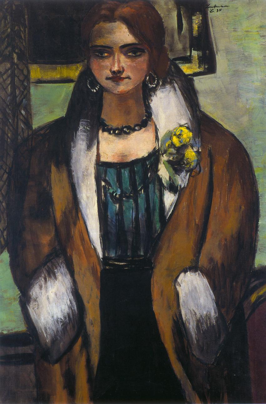 """Max Beckmann, """"Retrato de Naila"""", 1934, colección particular © Max Beckmann, VEGAP, Málaga, 2015."""