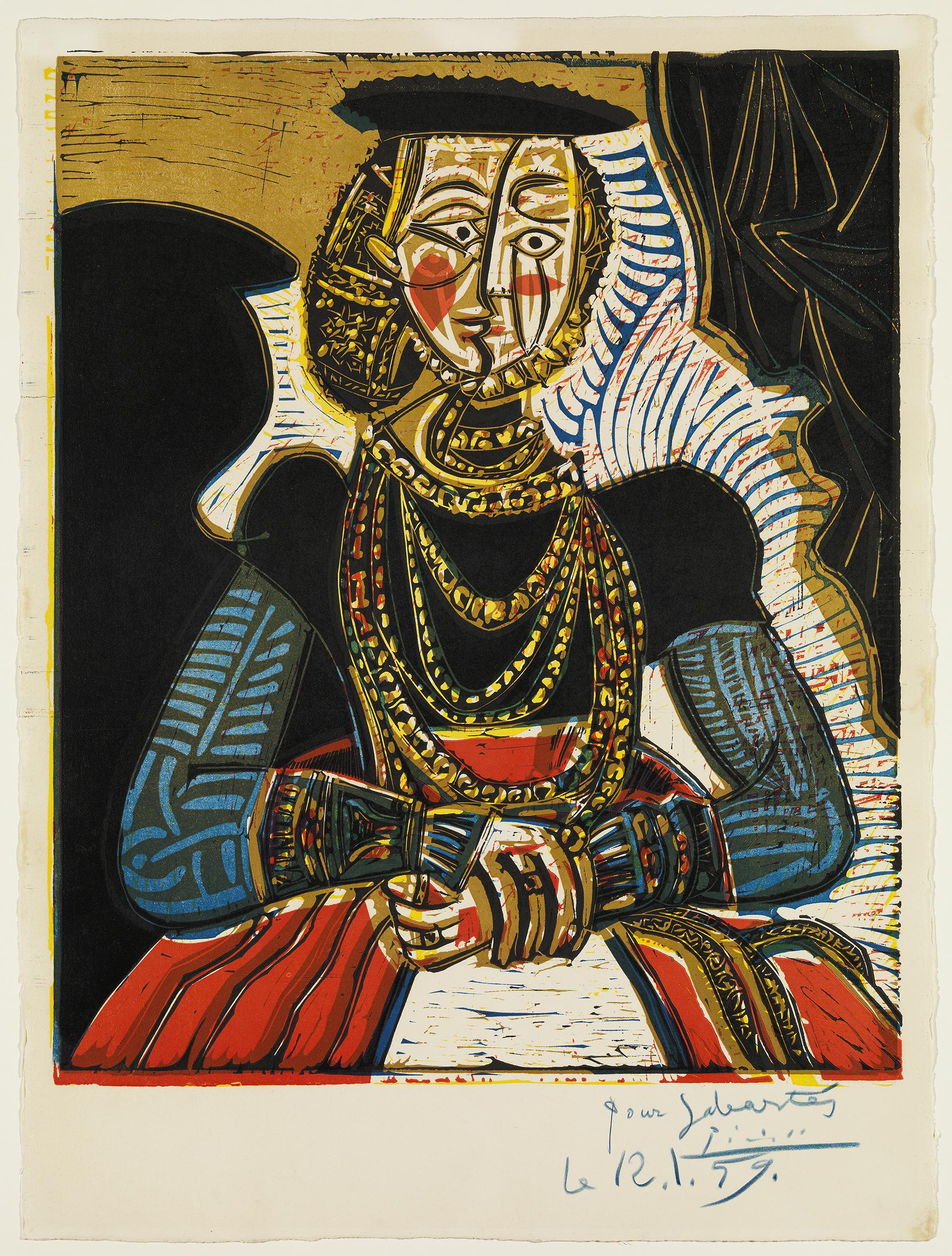 """Pablo Picasso (1881-1973), """"Busto de una dama, según Lucas Cranach el Joven II"""", Cannes, 4 de julio de 1958. Donación Jaume Sabartés, 1962.© Museu Picasso, Barcelona. Gasull Fotografía.© Sucesión Pablo Picasso, VEGAP, Madrid, 2015."""