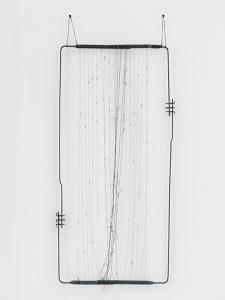 Dibujos sin papel 86/15, por Gego, 1986, acero y alambre, 91 x 94 cm.