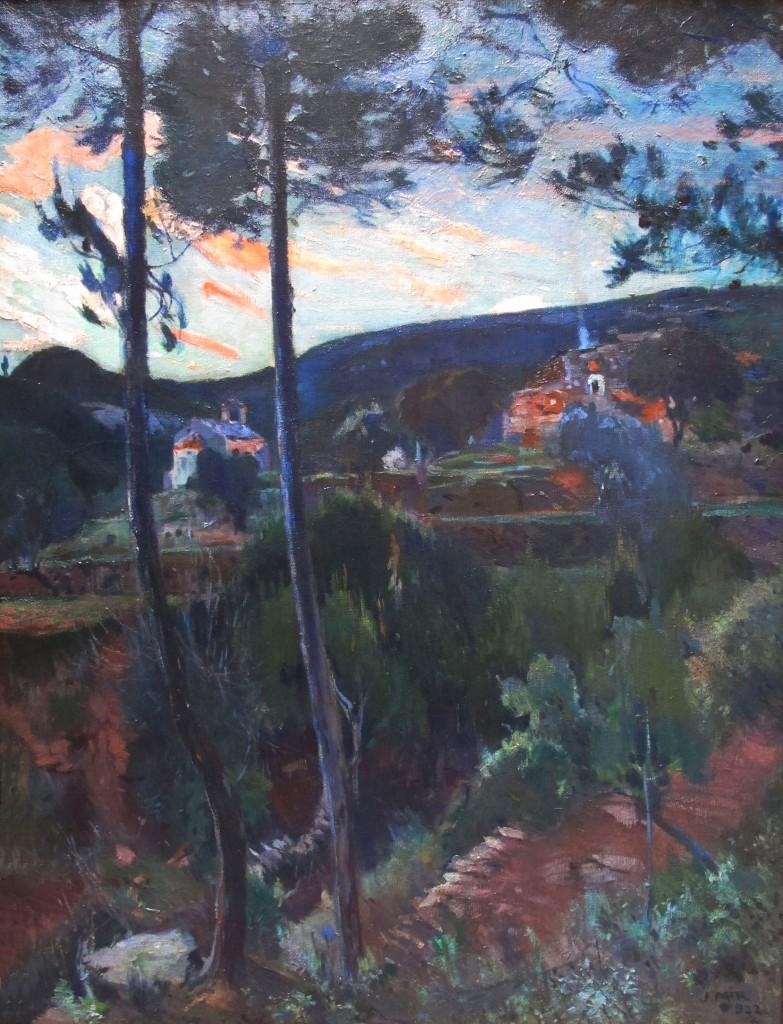 Joaquín Mir. El Pascol. Caldes de Montbui. 1922. 170x130 cm