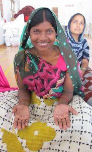 La colección de alfombras Bandas es un proyecto de colaboración con una comunidad de la India.