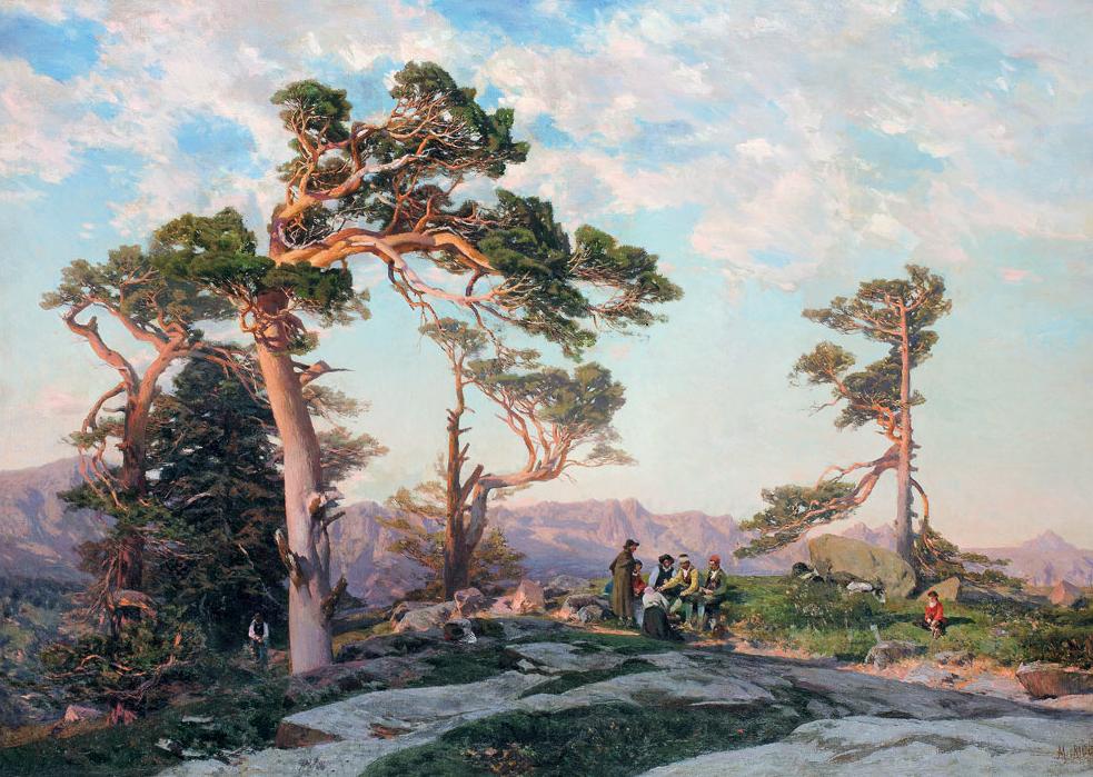La sierra de Guadarrama a vista de pincel y óleo – Descubrir el Arte ...