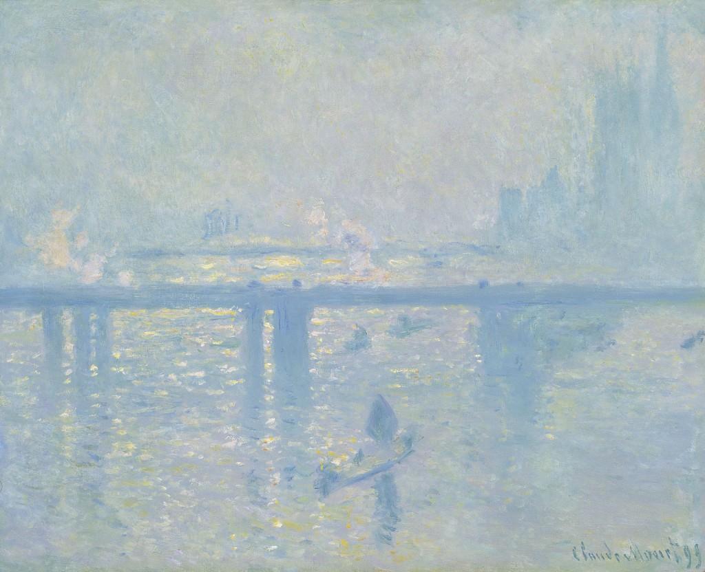 El puente de Charing Cross, por Claude Monte, 1899, óleo sobre lienzo, 64,8 x 80,6 cm, Colección Carmen Thyssen-Bornemisza en depósito en el Museo Thyssen-Bornemisza.
