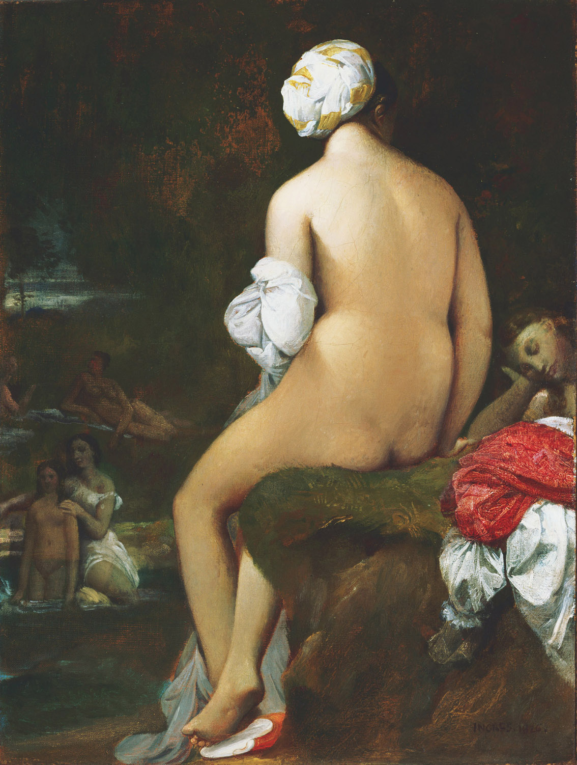 La pequeñabañista, por Jean-Auguste-Dominique Ingres, 1826, óleo sobre lienzo, 32,7 x 25,1 cm, The Phillips Collection, Washington, D.C., adquirido en 1948.