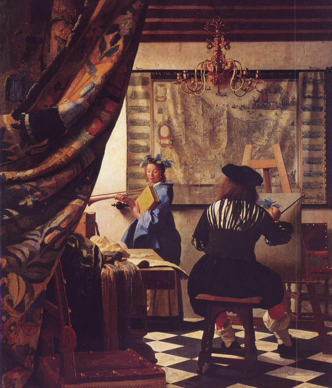 Alegoría de la pintura, h. 1666, óleo sobre lienzo, 120 x 100 cm, Viena, Kunsthistorisches Museum.