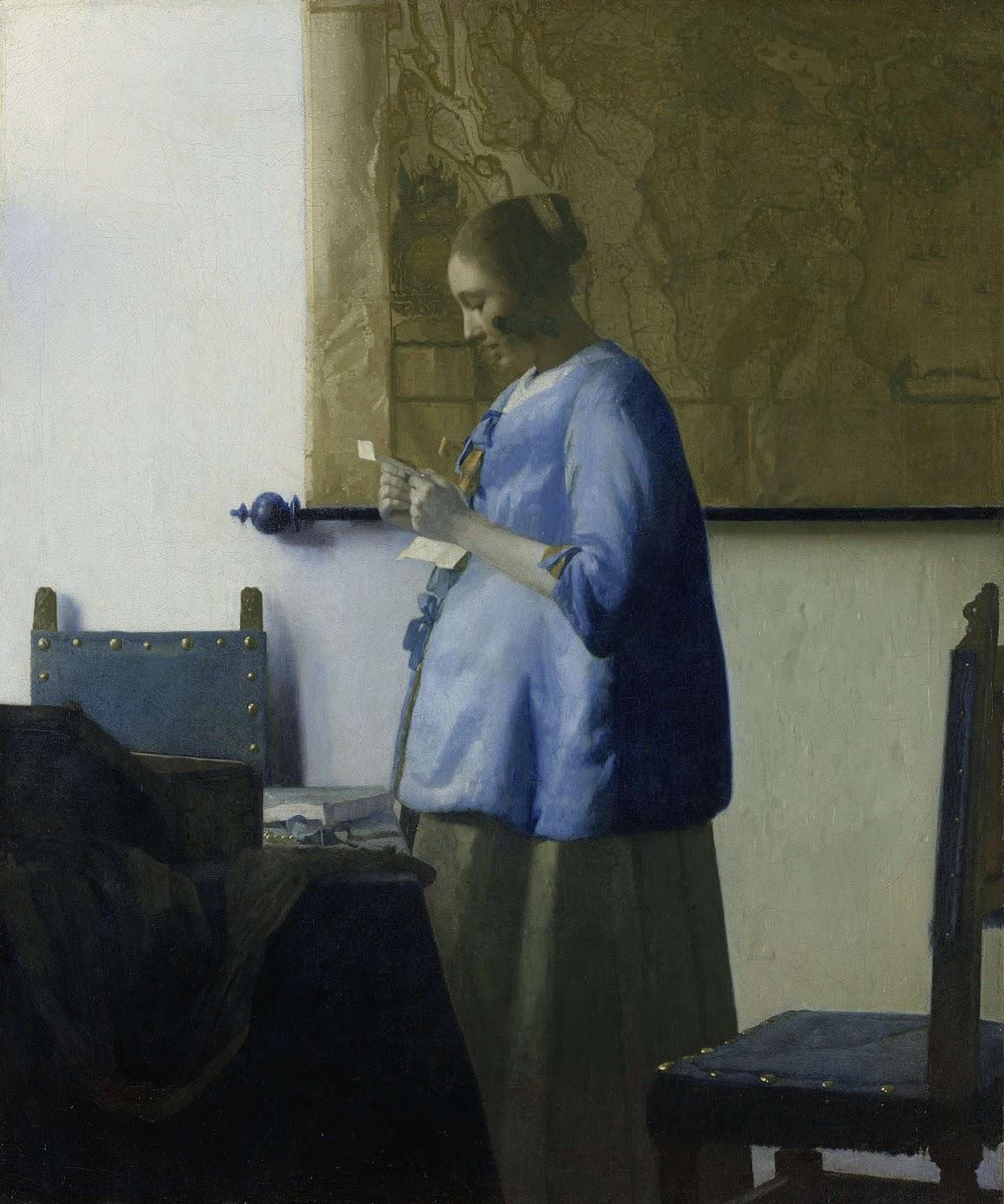 Lectora en azul, h. 1663-64, óleo sobre lienzo, 46,5 x 39 cm, Ámsterdam, Rijksmuseum.