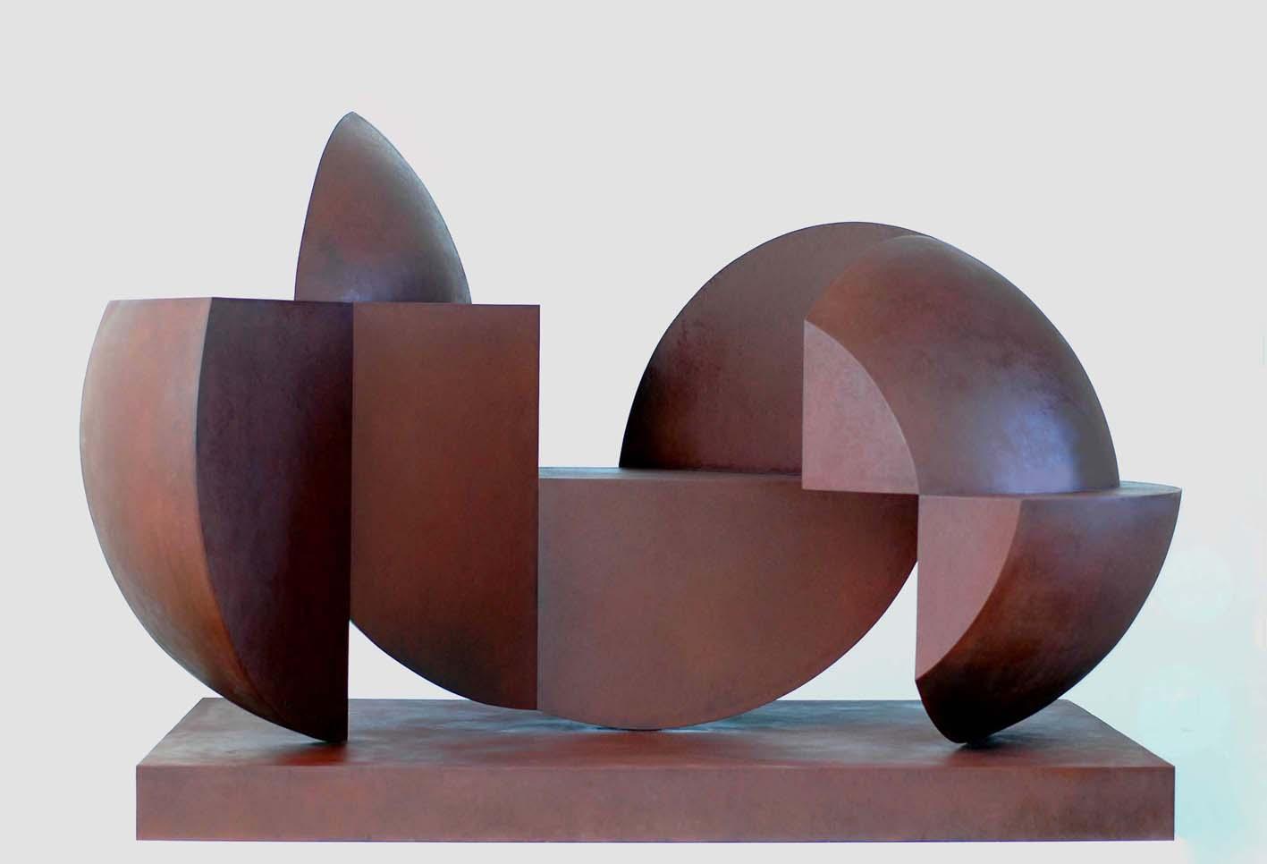 Esperante, acero corten, 2013, 105 x 179 x 112 cm.
