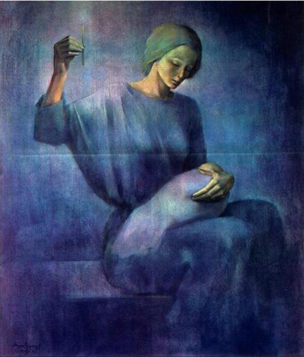 Maternidad azul, 1983.