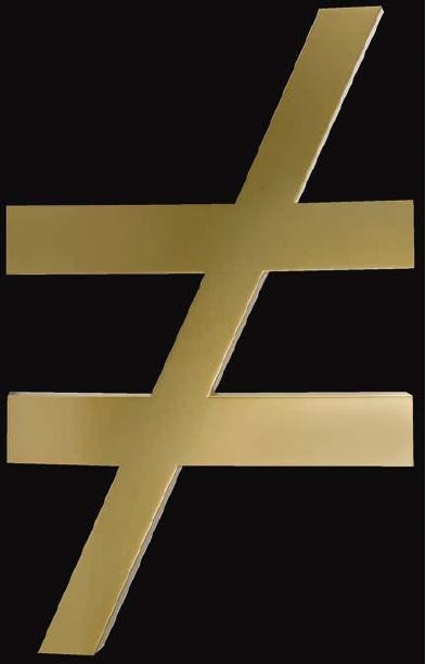 Desigualdad, por PSJM (Pablo San José & Cynthia Viera), 2013, instalación en metal dorado y metacrilato electrificada, pieza única, 109 x 64 x 7 cm.
