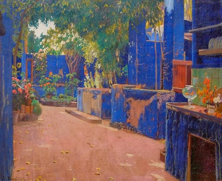 06-Santiago Rusiñol Prats 51 Patio Azul, Arenys de Munt, 1913 (2)