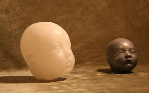 Las cabezas de Carmencita de Antonio López, que se expusieron por primera vez en esta galería y que formaron parte de la exposición 50 años después.