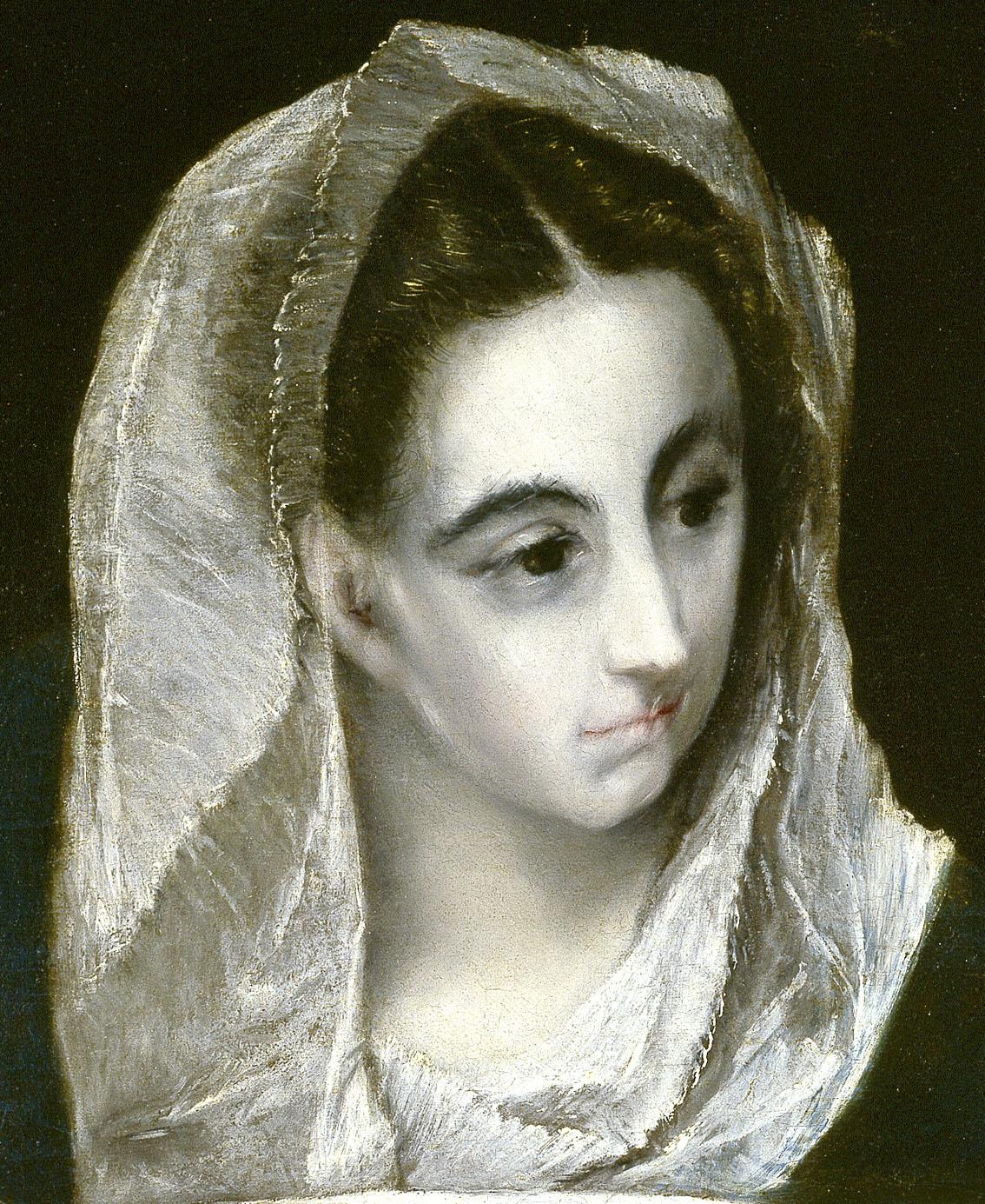 La Verónica (detalle), óleo sobre lienzo, h. 1578-80 Toledo, Museo de Santa Cruz.