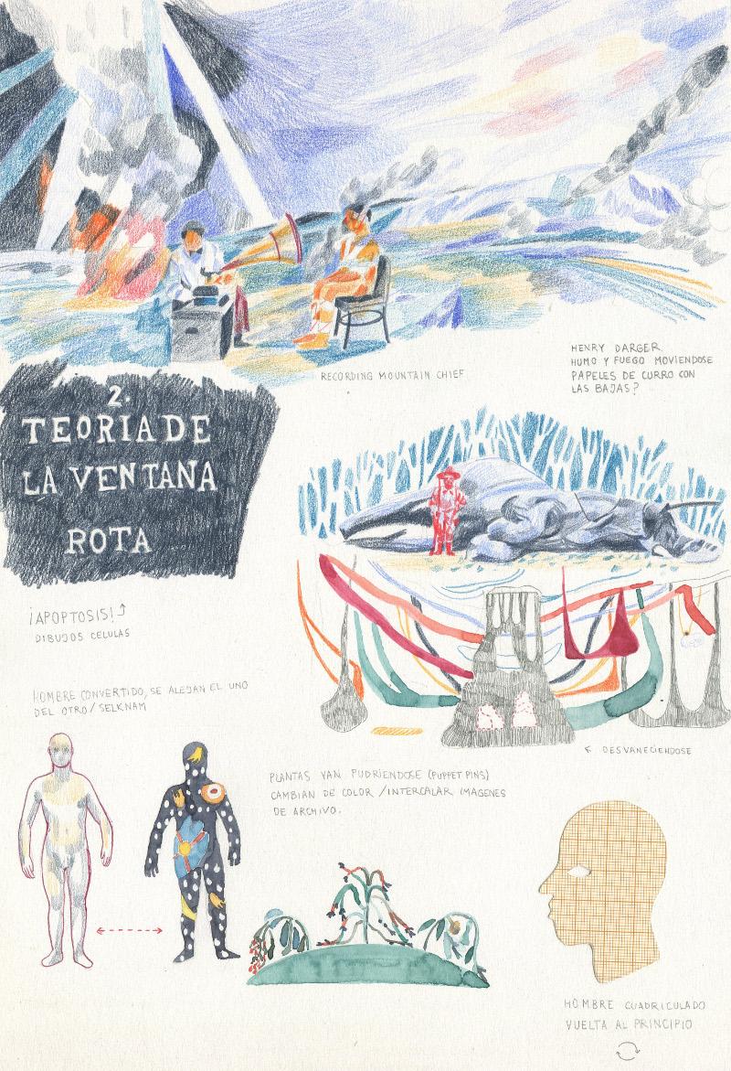 Storyboard de Tabú, por Blanca Gracia, Galería Ángeles Baños.