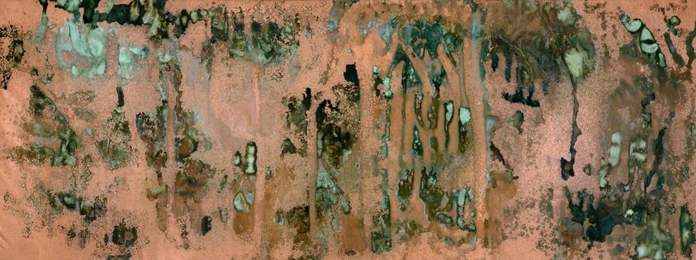 Obra de la serie Oxidación, por Andy Warhol.