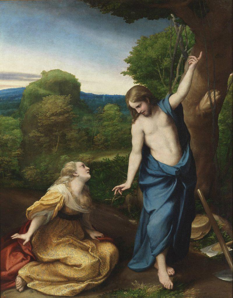 Noli me tangere, de Correggio, óleo sobre tabla, pasado a tela, 130 x 103 cm, Madrid, Museo del Prado © Photographic Archive. Museo del Prado.