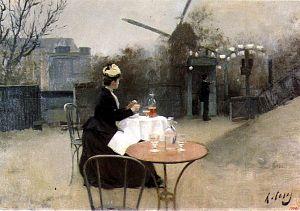Plein Air, por Ramon Casas, 1890, óleo sobre tela, 51 x 66 cm.