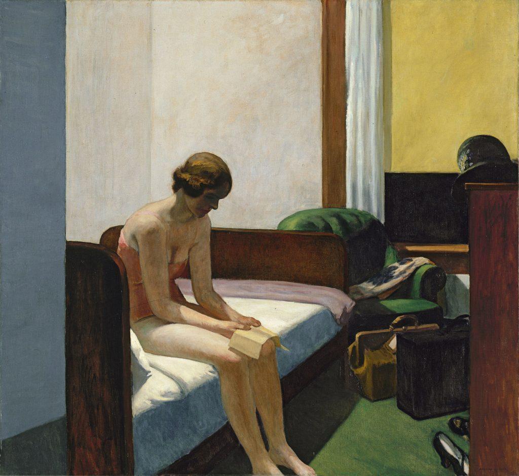 Habitación de hotel, de Edward Hopper, 1931, óleo sobre lienzo, 152,4 x 165,7 cm, Madrid, Museo Thyssen-Bornemisza.