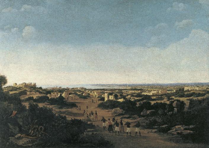 Vista de las ruinas de Olinda, Brasil, de Frans Jansz. Post, 1665, óleo sobre lienzo, 79,8 x 111,4 cm, Madrid, Museo Thyssen-Bornemisza.