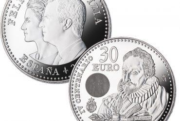 Una moneda conmemorativa del IV centenario de Cervantes